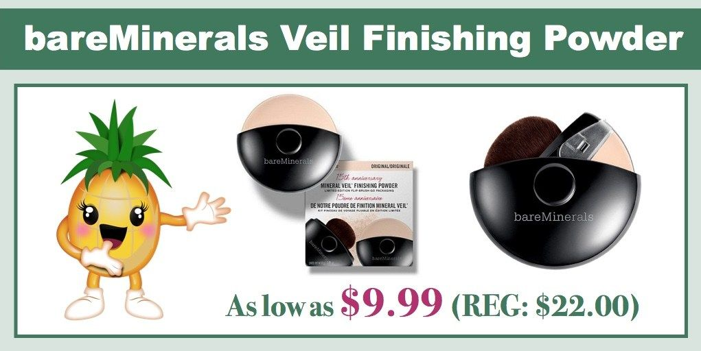 **HOT** bareMinerals Veil Finishing Powder - As Low as $9.99 (REG: $22.00)! #bareminerals #beauty #powder #hotdeal #deal  http://bit.ly/2asnHdV