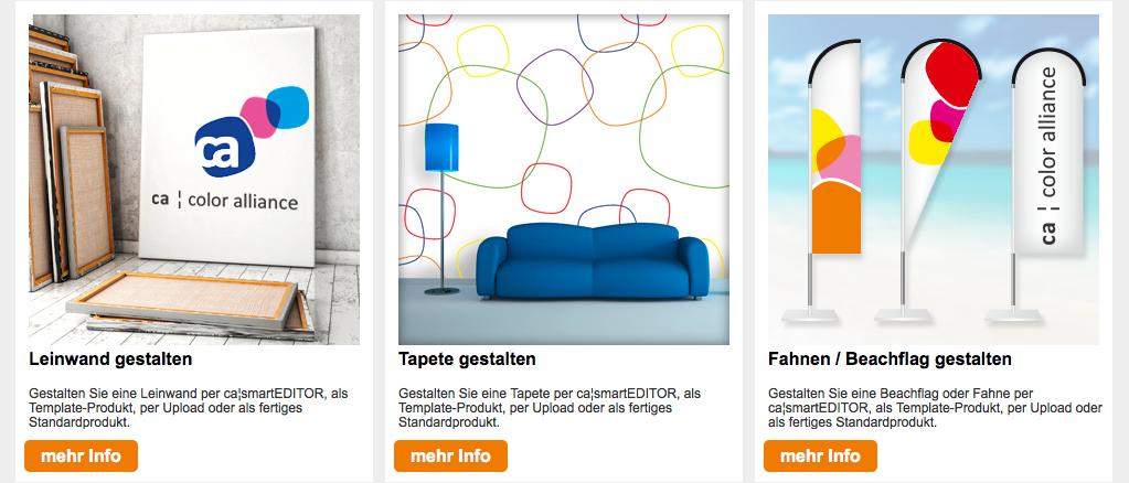 Informativer und greifbarer denn je: Der neue Demoshop rund um web-to-print der Color Alliance. E-Commerce und Shoplösungen für Druckereien. Speziell LFP