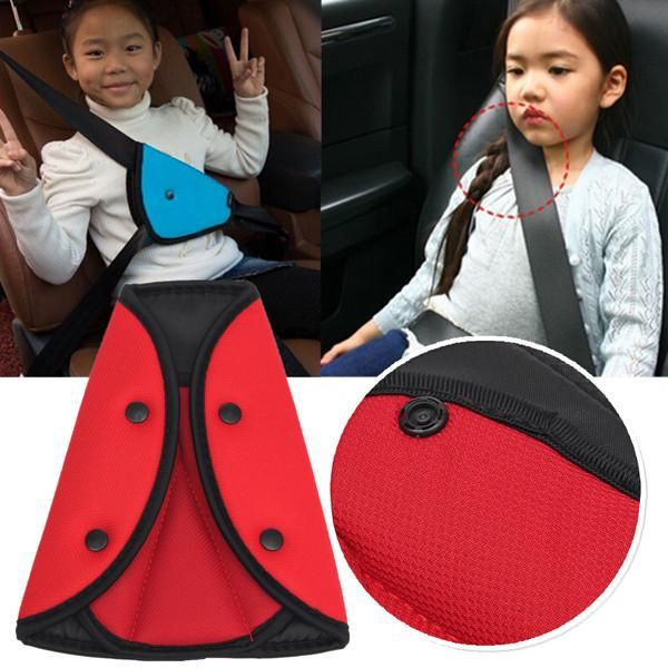 Car Child Children Adult Safety Cover Harnes Strap Adjuster Pad Seat Belts Clips