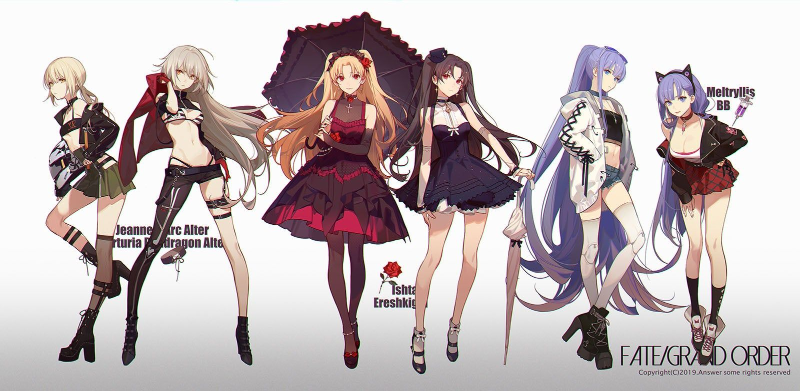 Time To Dress Up Fatestaynight Female Character Concept Anime Canvas Fate Anime Series