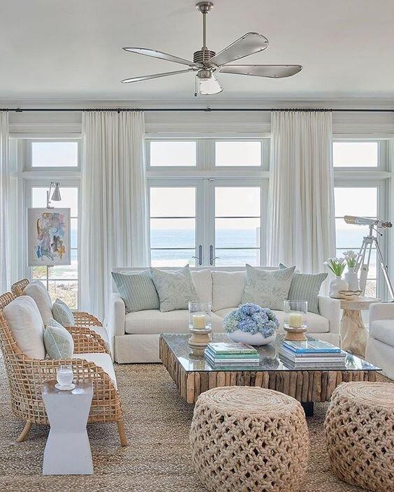 Design Notes-Coastal Blues to Inspire Your Home Design  @ Beachpretty.com  #kitchen #livingroom #coastal #coastallivingroom #kitcheninspo #kitchendesign #interior #interiordesign #beachpretty