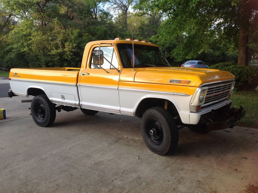 1971 Ford F 250 4x4 390 V8 4speed Manual Classic Ford Trucks