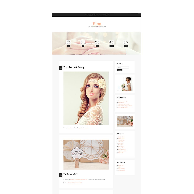 Elsa Free - Thème WordPress gratuit mariage / Free WordPress theme ...