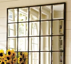 Pottery Barn Window Pane Mirror Repurposing Old Windows