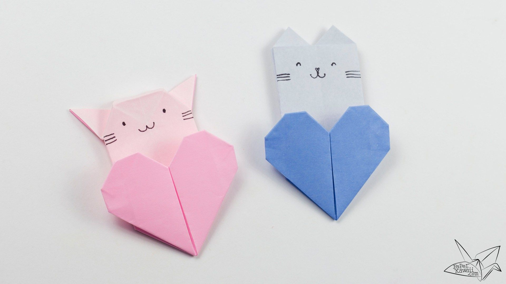 Origami Cat Heart Tutorial