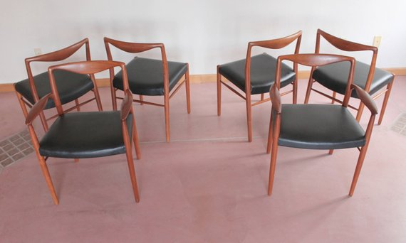 Kai Lyngfeldt Larsen For Soren Willadsen Dining Chairs