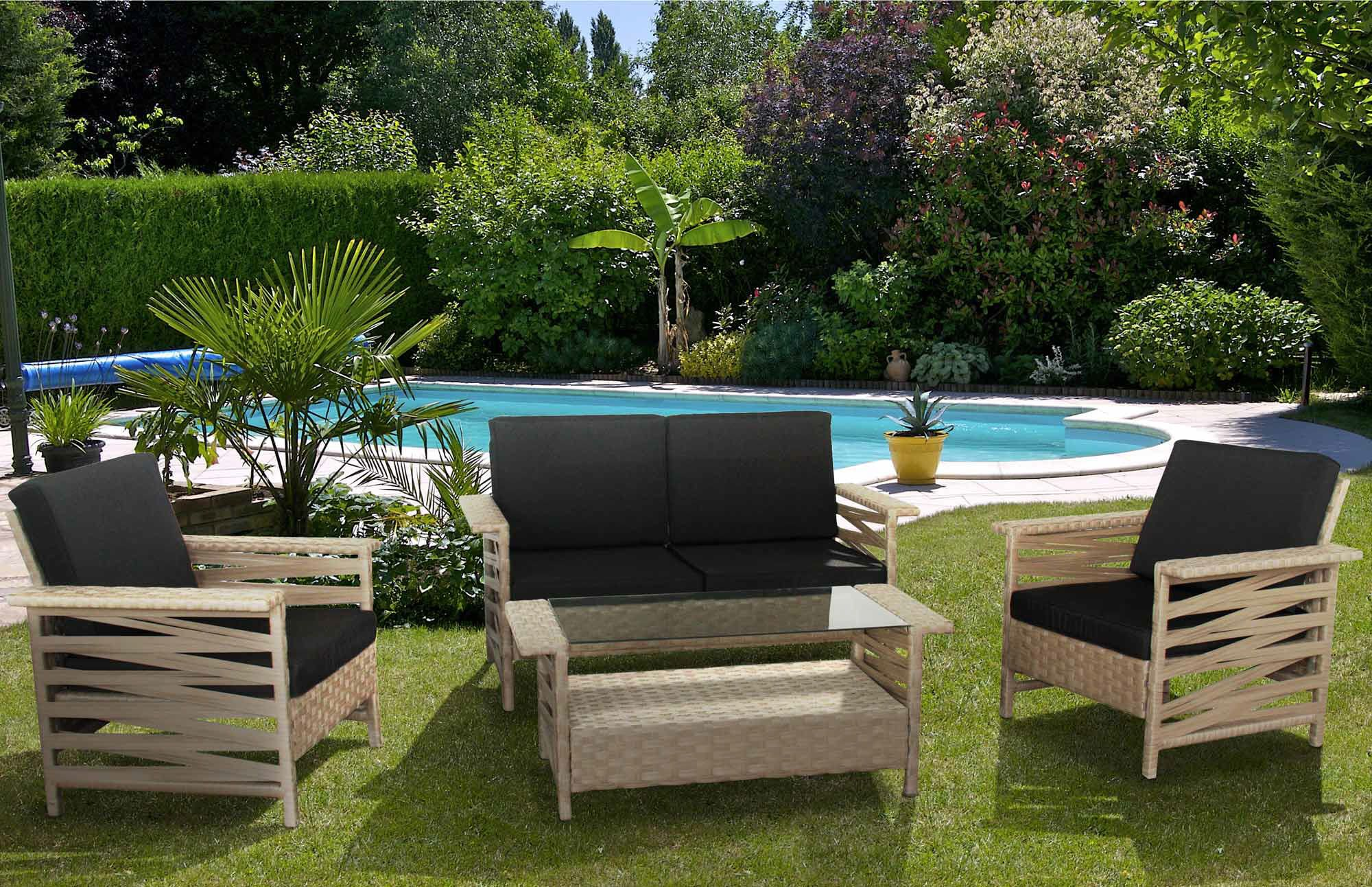 Salon de jardin sabana ermanno g salon de jardin delamaison delamaison outdoor furniture - Table basse delamaison ...