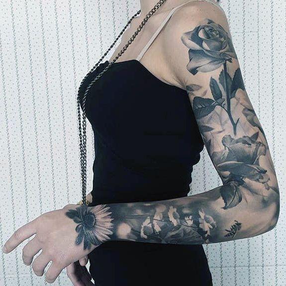 Tatuaże Damskie Kwiaty Na Ręce Armtattoos Tattoo Designs