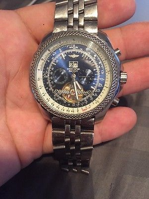 breitling motors edition for pre bentley special watches owned automatic stainless steel