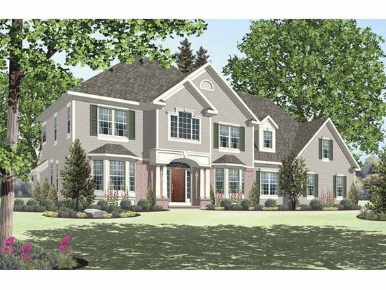 New american house plan with square feet and bedrooms  from dream home source code dhsw also rh pinterest