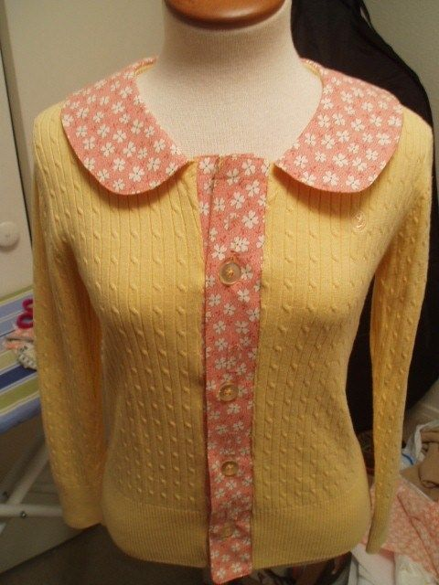 Refashioned sweater to Cardie.