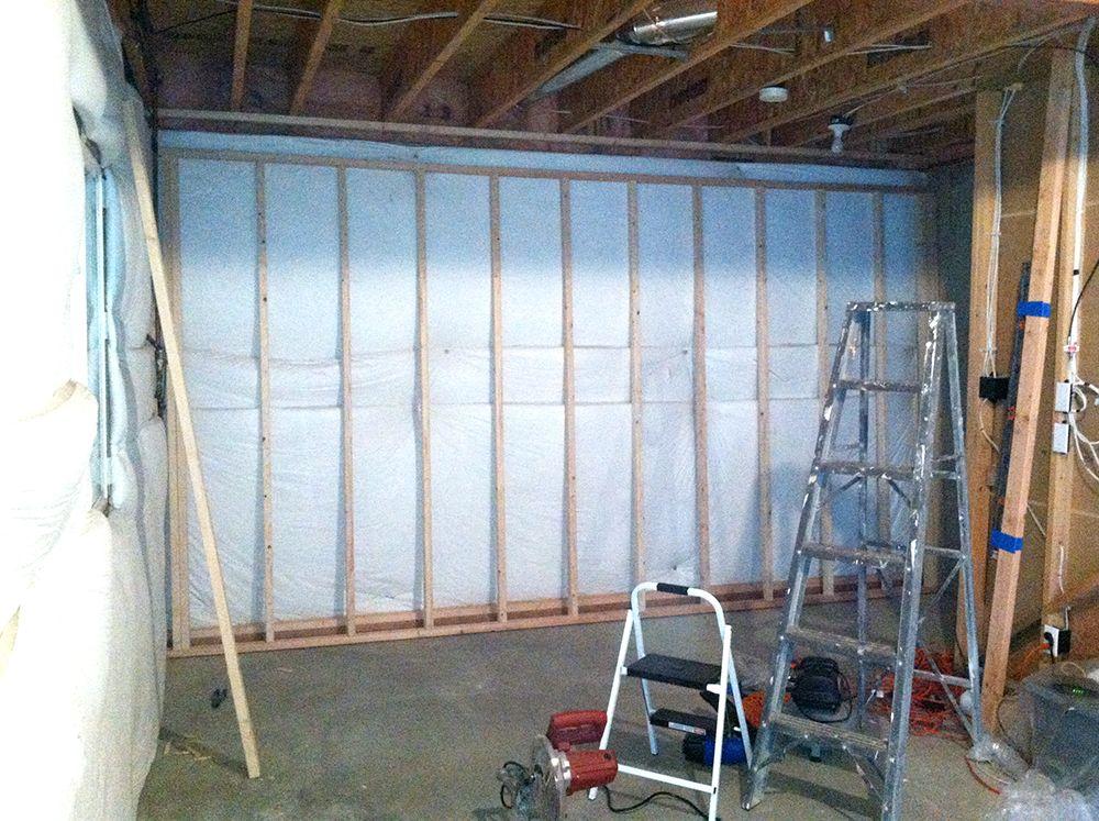 Framing Basement Walls How To Build Floating Walls Framing Basement Walls Basement Walls Finishing Basement