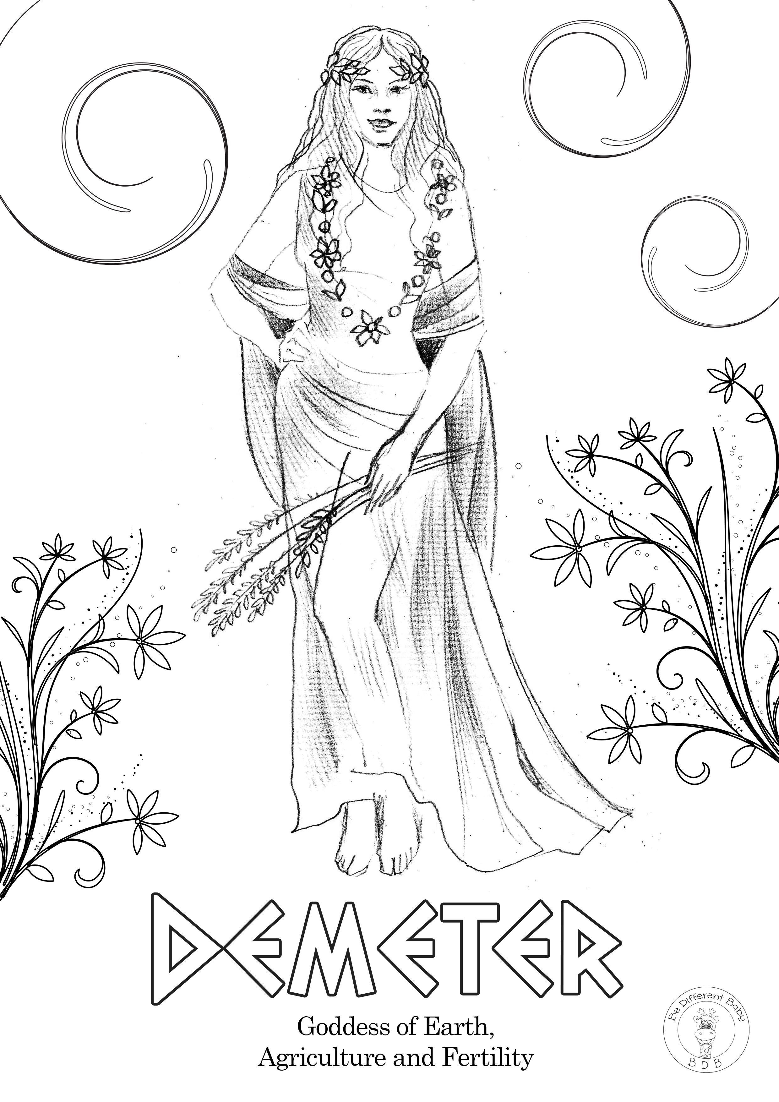 Greek Gods Coloring Pages Be Different Baby In 2020 Greek Mythology Tattoos Greek Mythology Goddesses Greek Gods