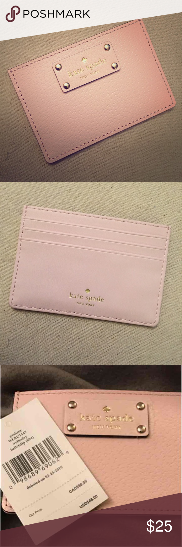 on sale 79fda b6dc0 Kate Spade pink Card holder wallet Price is firm kate spade ...