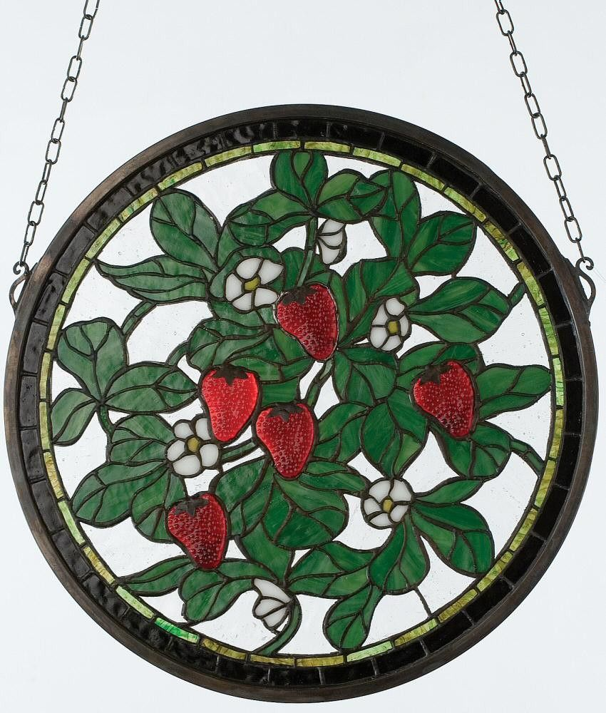 """17""""h Strawberry Window Stained glass windows, Stained"""