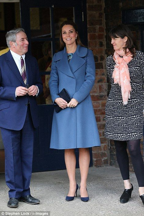 Getting the tour: Kate was shown around the factory by pottery designer Emma Bridgewater (...