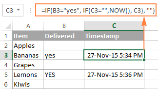 A Circular Formula To Insert A Time Stamp In Excel Excel Ads Dating