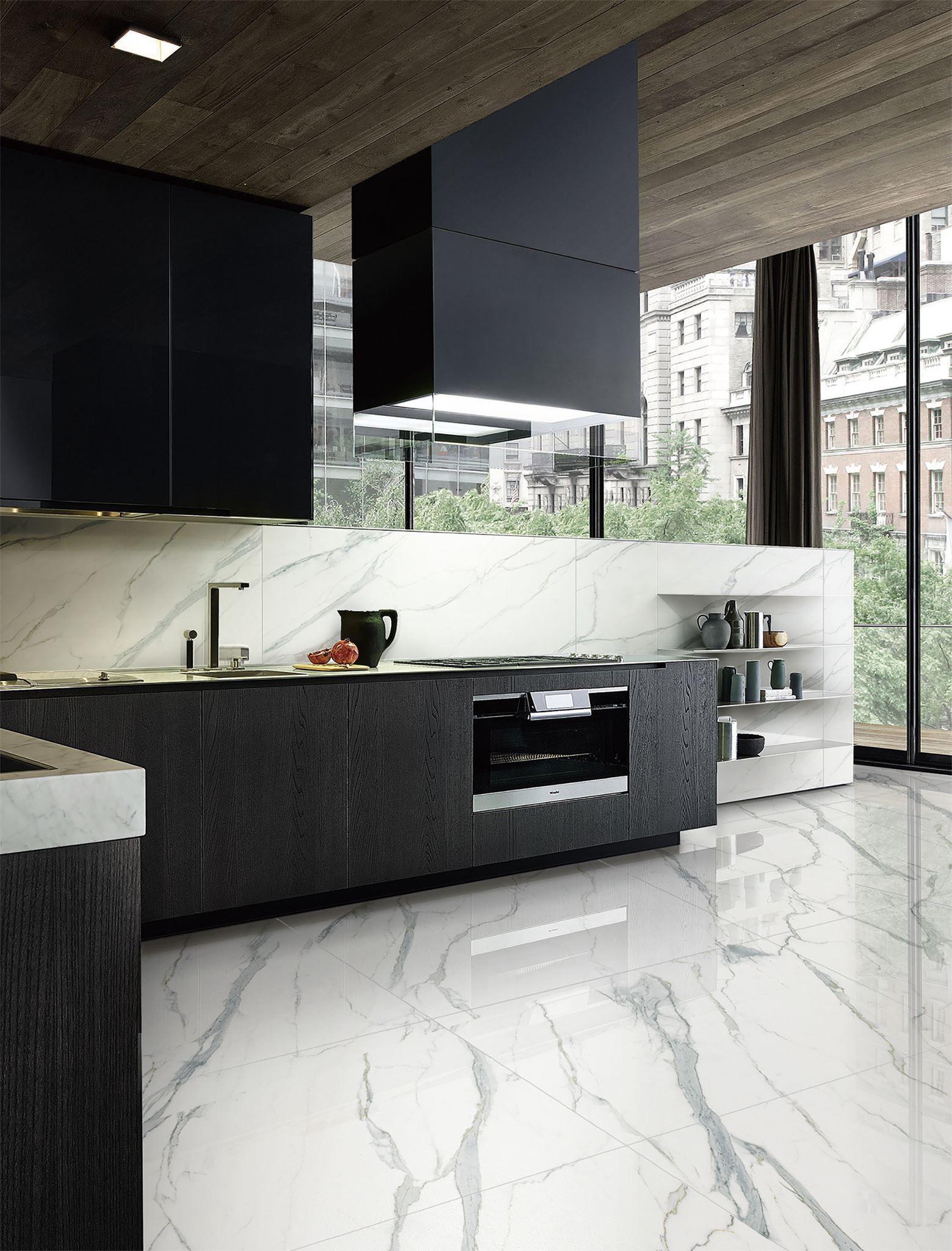 Statuario Venato By Gani Marble Tiles Modern Marble Kitchen Marble Floor Kitchen Grey Marble Kitchen