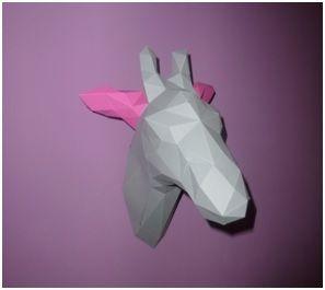 Paper Shape paper shape 3d origami giraffe diy 3d origami