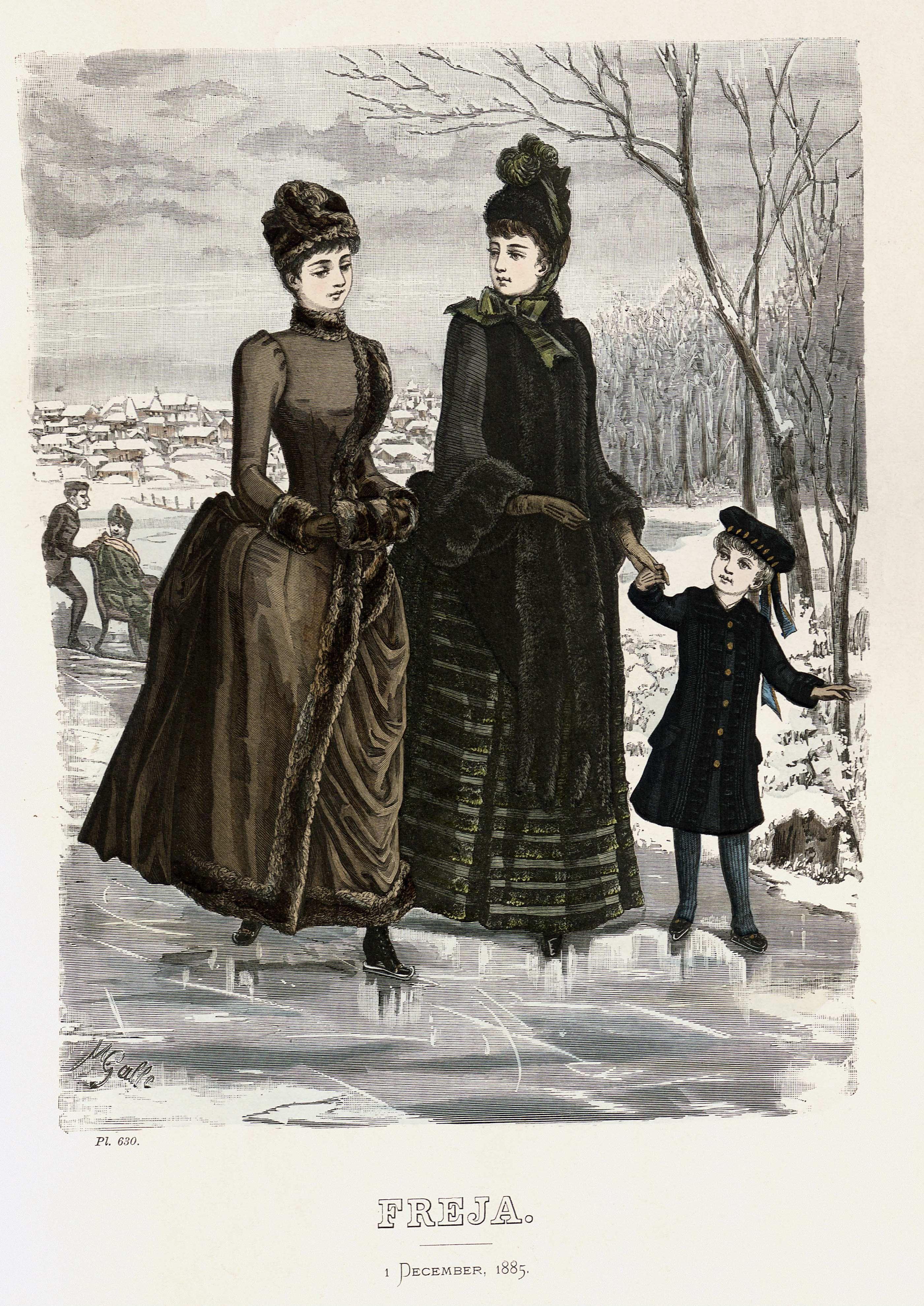 File Freja Illustrerad Skandinavisk Modetidning 1885 Illustration Nr 23 Jpg Fashion Plates Historical Fashion Victorian Fashion