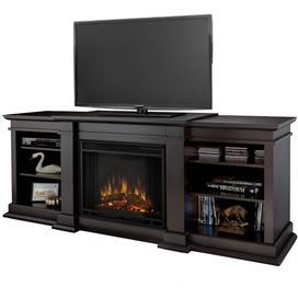 Electric Fireplace And Media Console With An Led Display And Adjustable Shelving Product Media Console