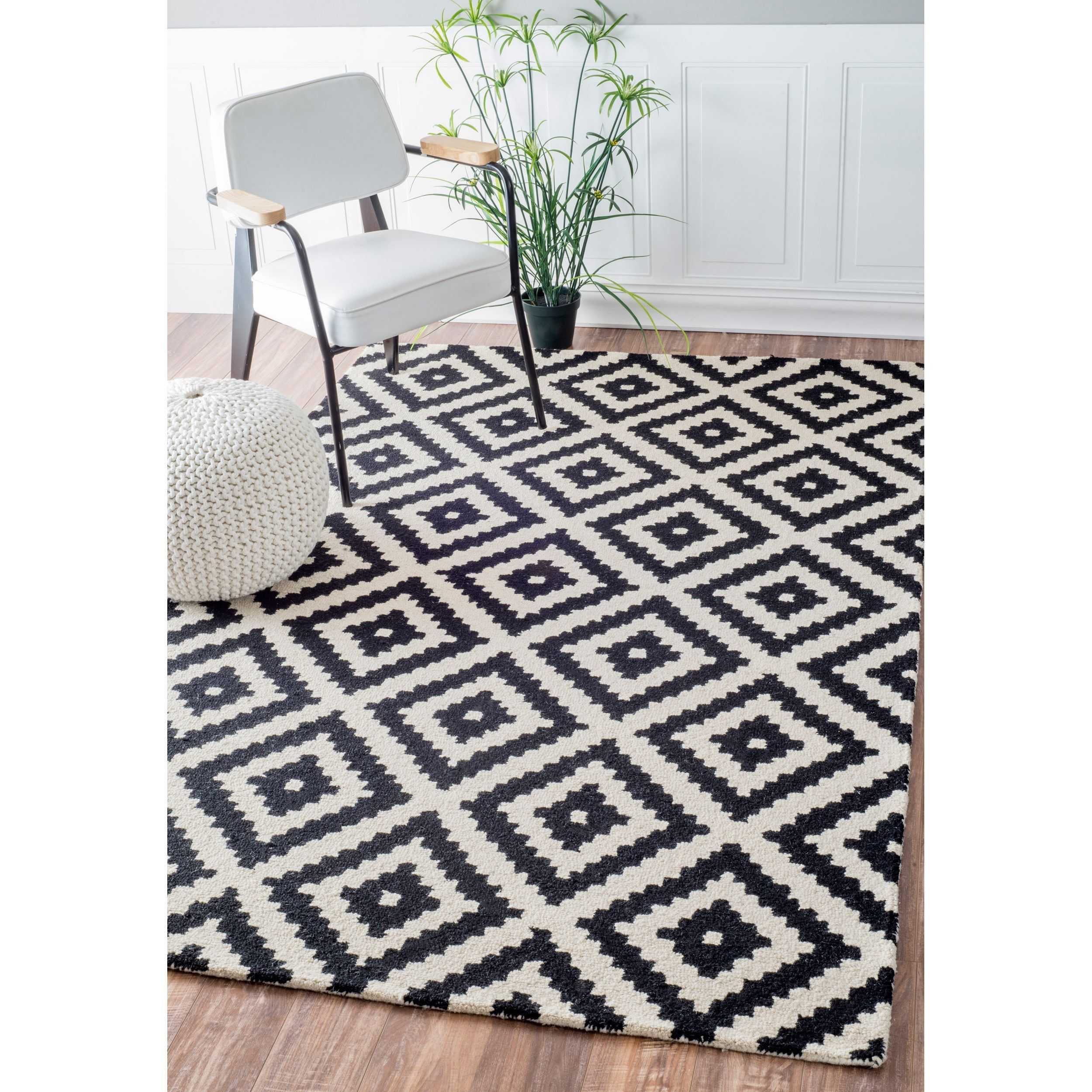 nuLOOM Handmade Abstract Wool Fancy Pixel Trellis Rug (5' x 8') - Overstock Shopping - Great Deals on Nuloom 5x8 - 6x9 Rugs
