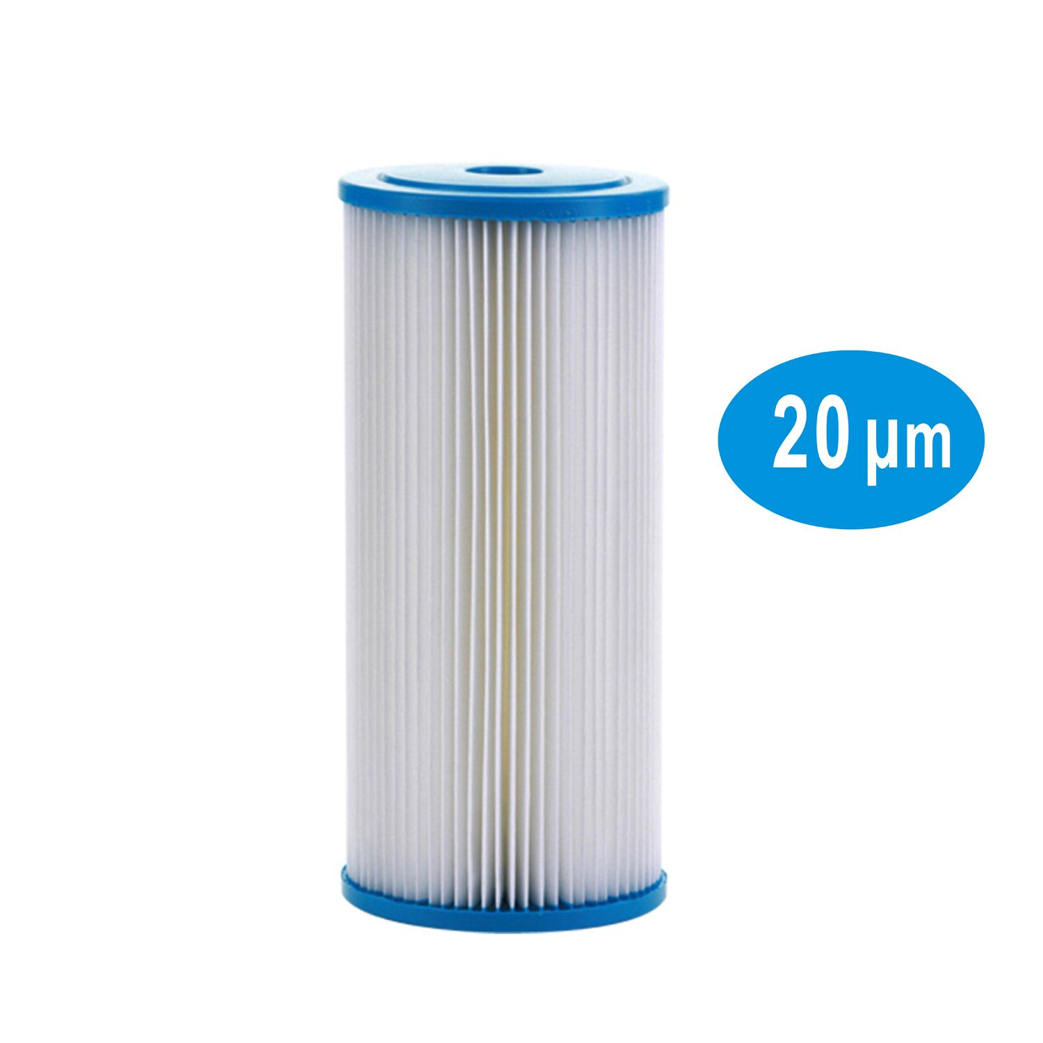 20mm Whole House Sediment Pleated Water Filter 4 5 Dia X 10 Long Washable Reusable In 2020 Water Filter Cartridge Water Filter Filters
