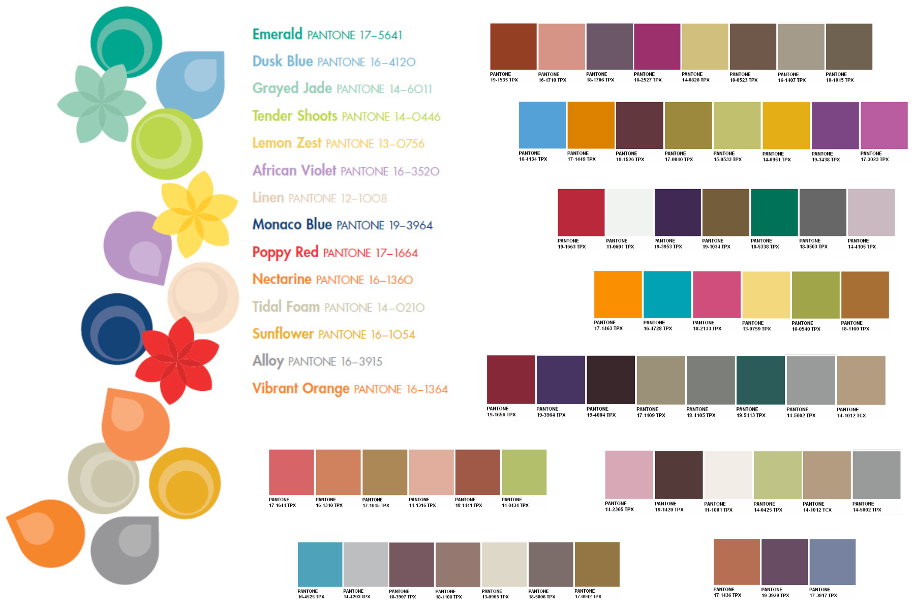 I like the colors in the first color strip and the fifth color pantone spring 2013 vs home 2013 colour trends nvjuhfo Gallery