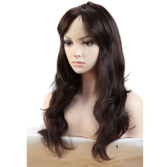 Wigs for Women Long Curly Full Head Wig Black Red Mix Ombre Synthetic Hair  Natural Fashionable fe0bc98bf6