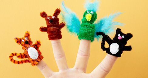 How to craft adorable pipe cleaner puppets! #crafts #kids