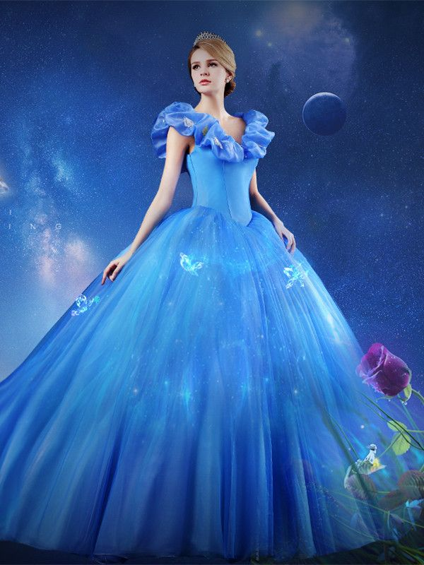 1afcee40be2 Off-the-Shoulder Ball Gown Butterfly Cinderella Dress in 2019 ...