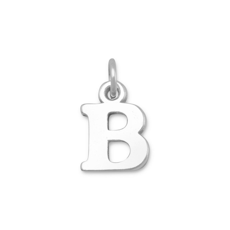"""Oxidized """"B"""" Charm  #sterlingsilver #bluetulip #gold #bracelet #earrings #necklace #love #rings #layering #jewelry"""