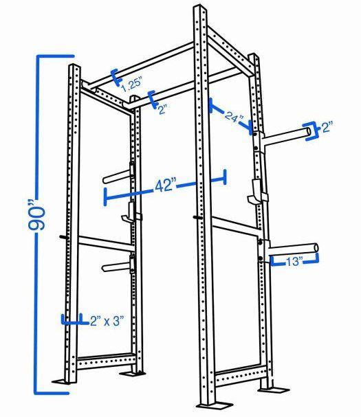 Best diy power rack ideas on pinterest