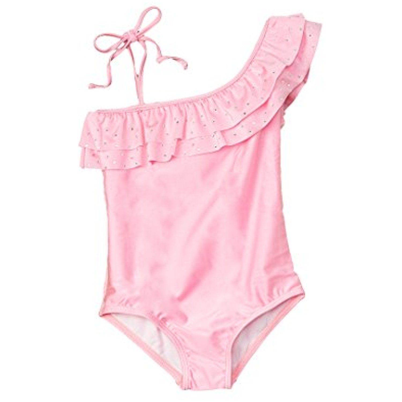 Taiycyxgan Girls Princess Lace Layer Swimsuit TuTu Dress One-Pieces Swimwear Tankini