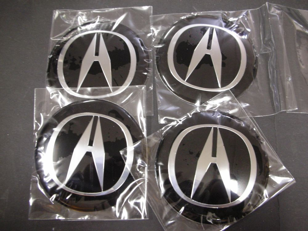 X ACURA Mm BLACK WHEEL CENTER CAP DECAL STICKER Emblem TL TSX - Acura emblem black