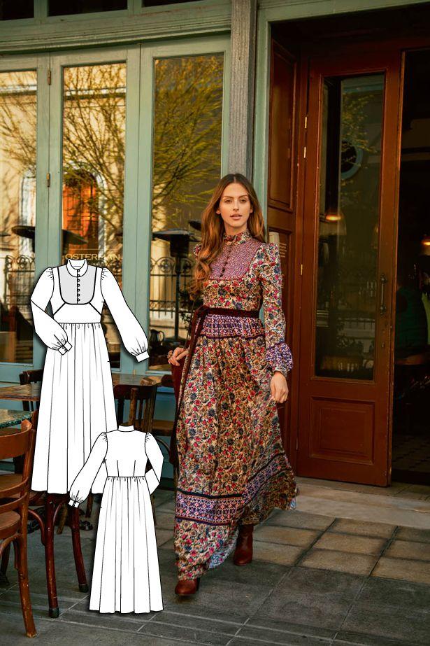 English Manor: 11 New Women\'s Sewing Patterns | Pinterest | Flower ...