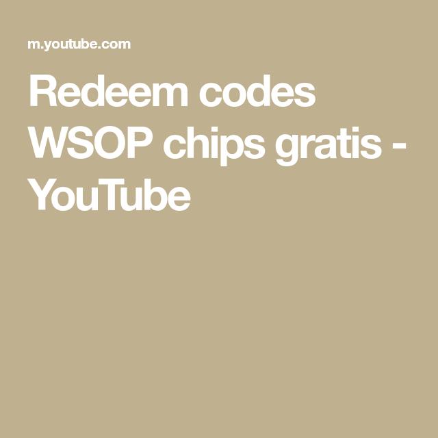 Wsop Redeem Codes