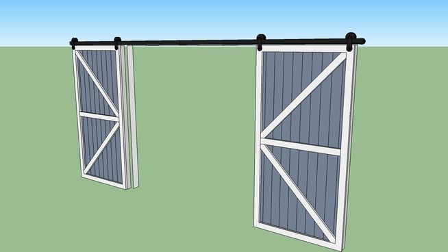 Barn Door With Pulley Track 3d Warehouse Modelos 3d 3d Warehouse Arquitetura