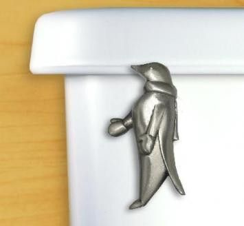 Pewter Penguin Toilet Handle | Penguins, Toilet and Animal