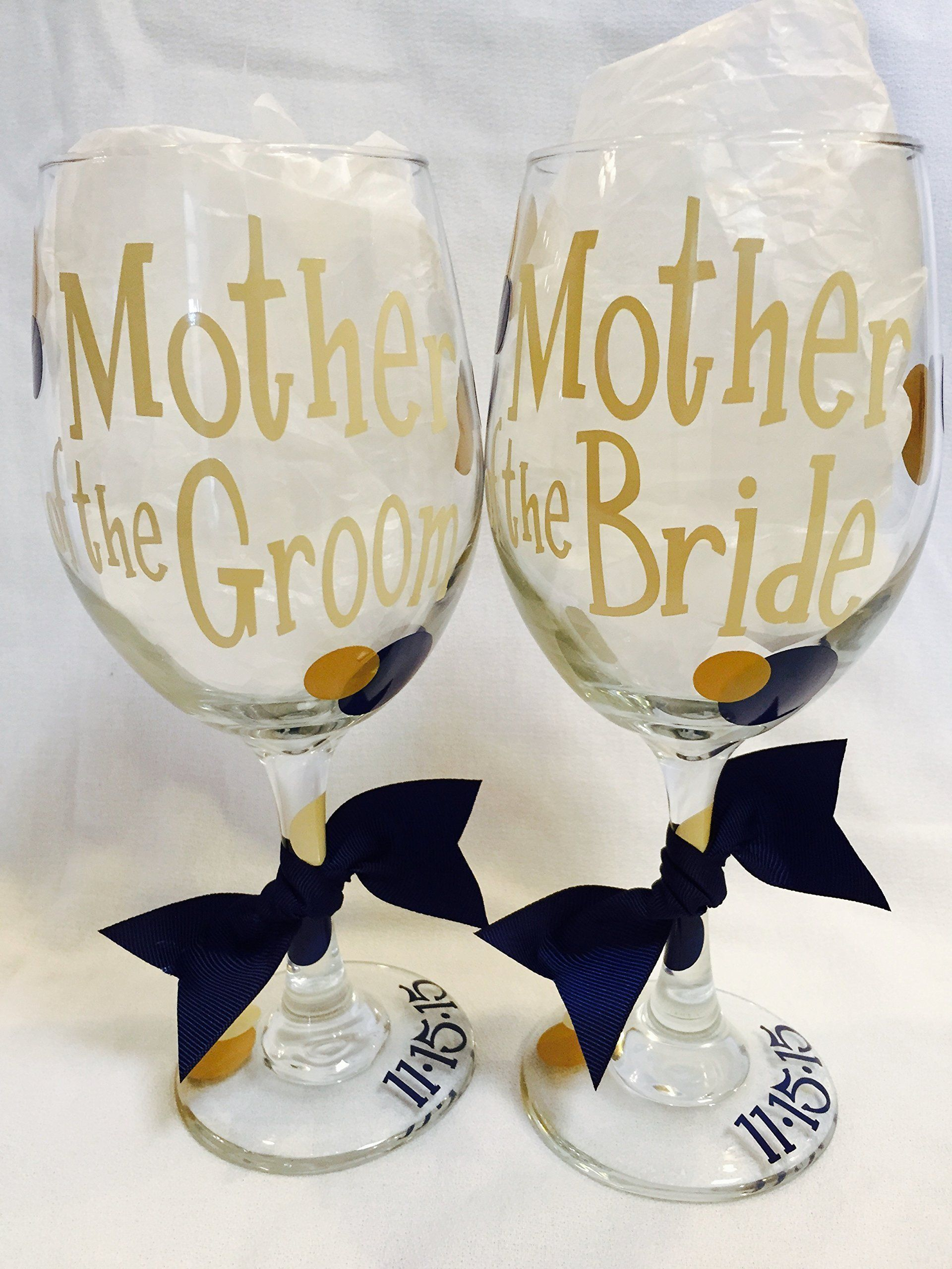 Mother of the Bride, (or) Mother of the Groom Wine Glass, Bridal ...