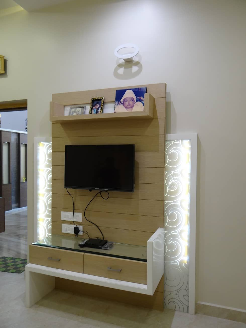 Modern Living Room Lcd Tv Stand Wooden Design Fa18b: Lcd Wall Units - Wood Working Idea Lcd Wall Units %