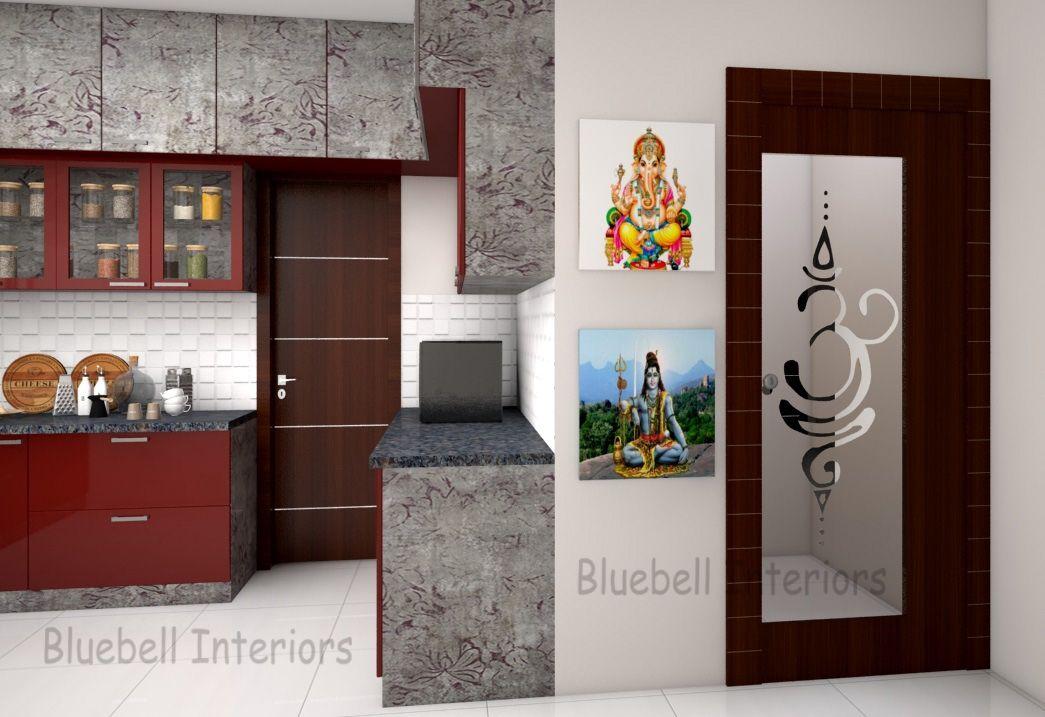 Pooja Glass Door With Ohm Etching Design Pooja In Kitchen Pooja Room Door Design Door Glass Design Room Door Design