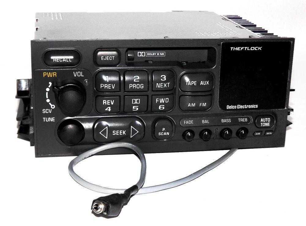 Gmc Chevy Truck 1995 2002 Am Fm Cassette Radio W Aux Input 3 5mm Iphone Mp3 Aux Radio Chevy Trucks Gmc