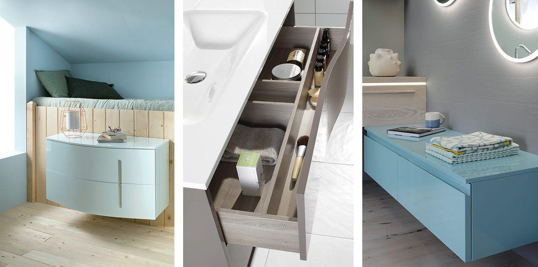 Gamme Douce campagne de meuble salle de bain, miroir - Sanijura
