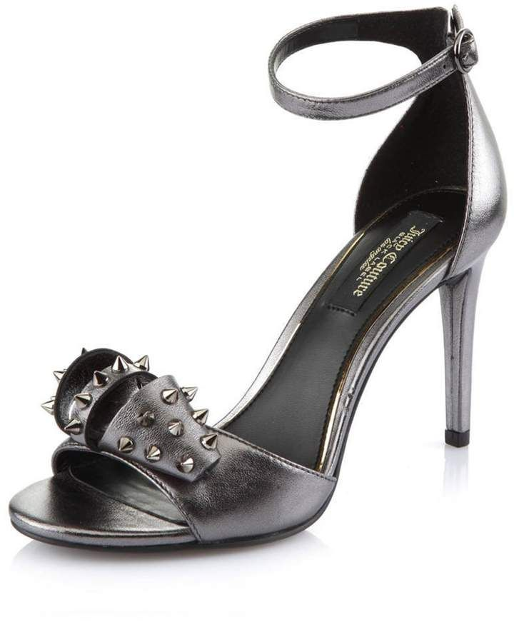 fb7fb63e6 Giada Studded Pewter High Heel Shoe. (Shopstyle Affiliate) | High ...