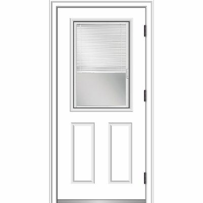 Verona Home Design Smooth Primed Fiberglass Prehung Front Entry