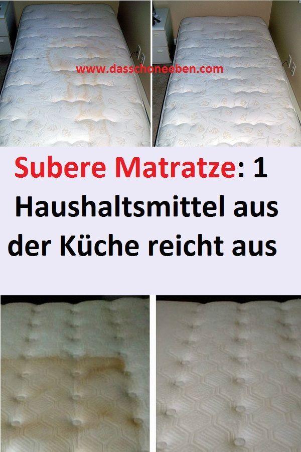 Saubere Matratze 1 Haushaltsmittel Aus Der Kuche Reicht Aus Haushaltsmittel Matratze Kuche Reinigung Life Hacks Diy Crafts Cleaning