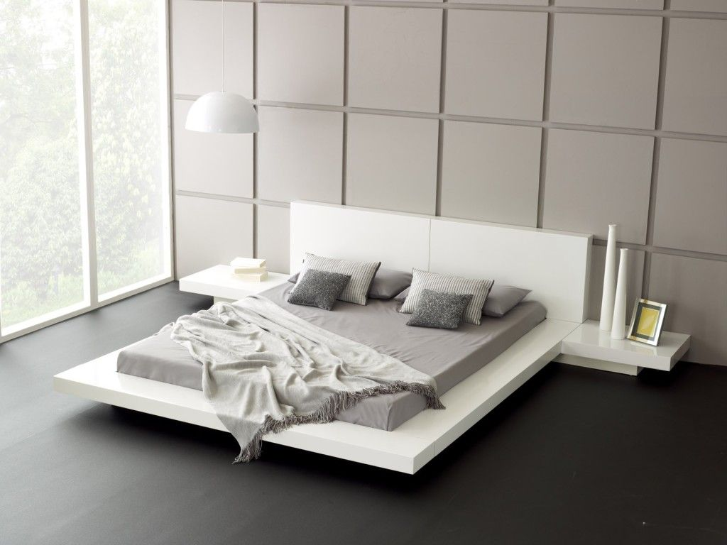 picture of low profile platform bed frame displaying interesting bedroom decoration that will stun you - Modern Queen Bed Frame