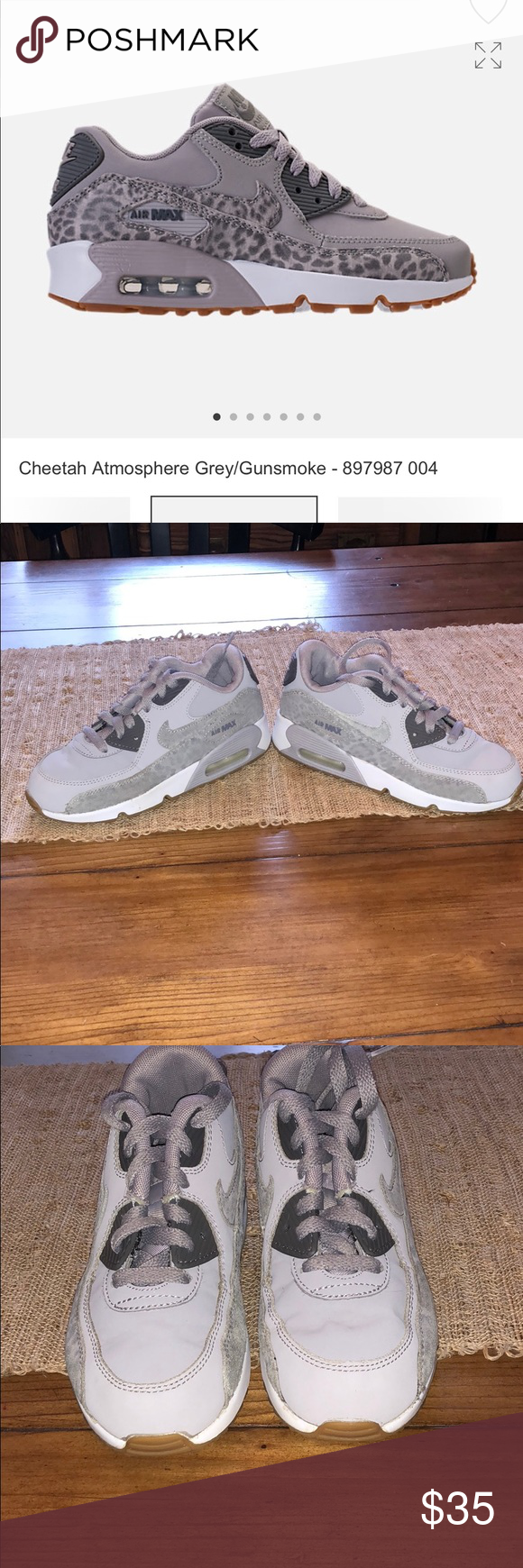 Girls Nike Air Max 90's size 2 She'll be ready for action in