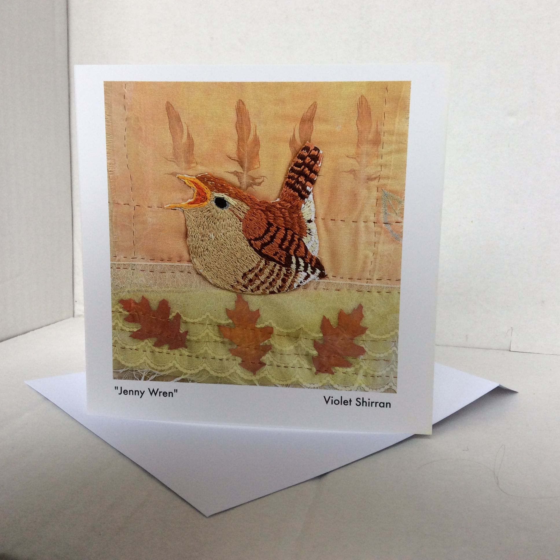 Jenny wren greeting cards hand embroidery irish bird series greeting cards hand embroidery irish bird series violetshirran kristyandbryce Image collections
